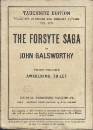 Tauchnitz 4735 The Forsyte saga 3