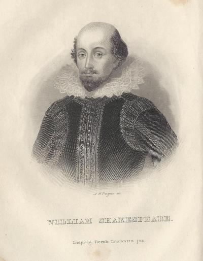 Tauchnitz Shakespeare 1843 frontispiece
