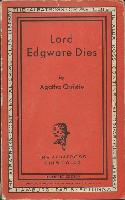 Albatross 115 Lord Edgware dies