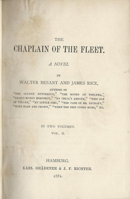 Asher 172 The chaplain of the fleet II Title page
