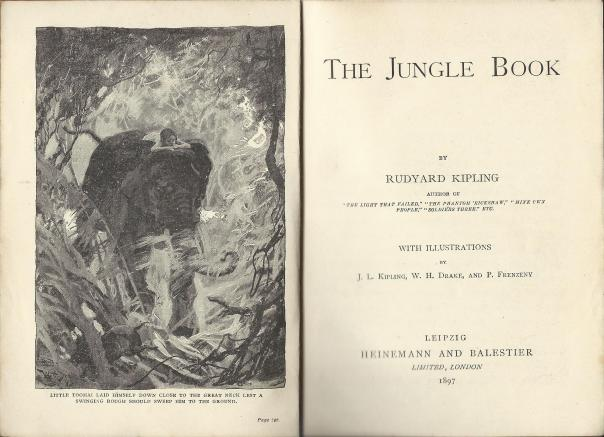 EL167 Kipling The Jungle Book Title Page and Frontispiece