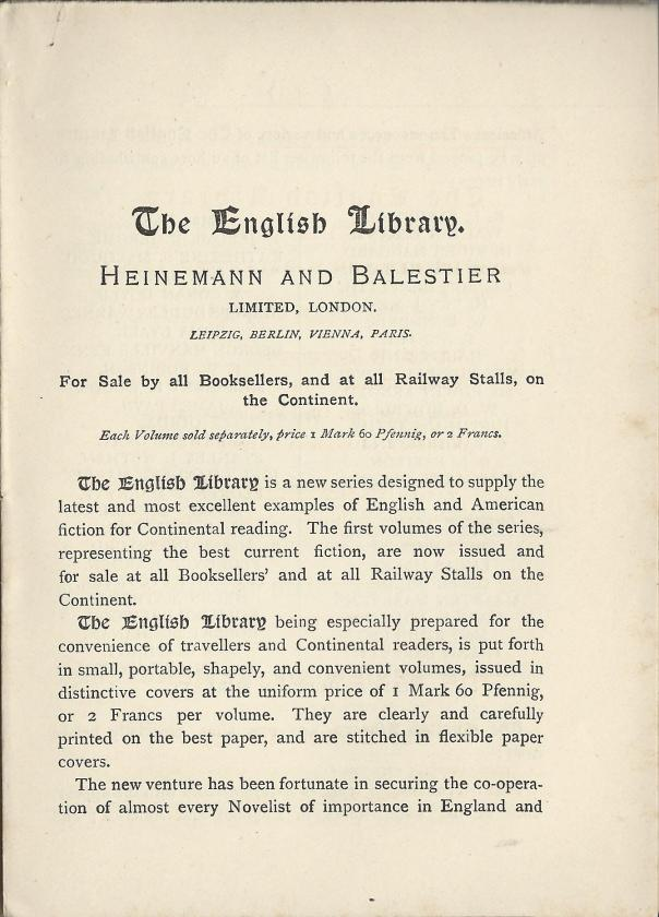 The English Library blurb
