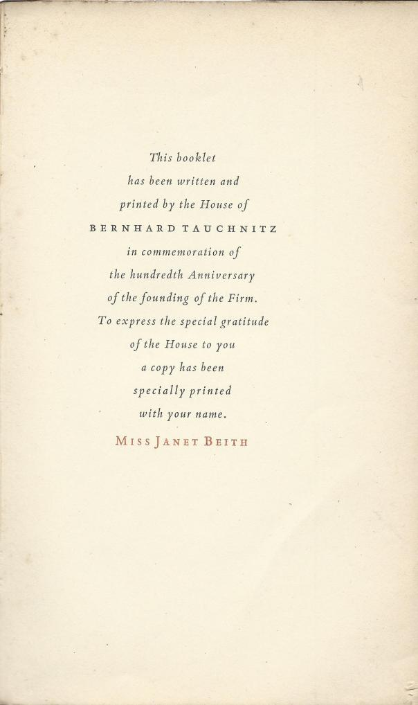 tauchnitz-the-harvest-1937-janet-beith-dedication