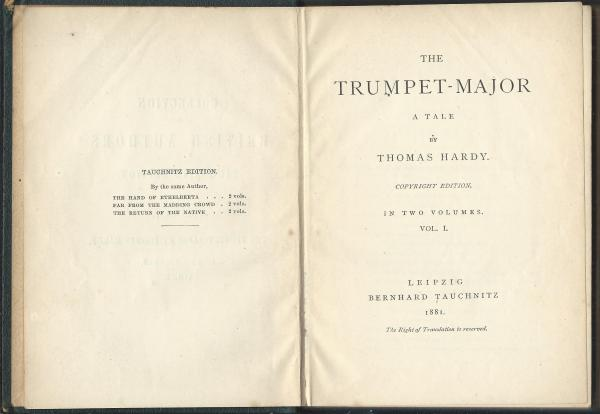 Tauchnitz 1951 Title page and half title verso